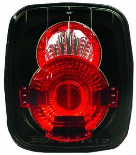 IPCW CWT CE407CB Crystal Eyes Bermuda Black Tail Lamp   Pair Automotive