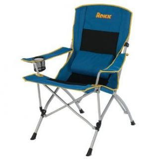 Rokk Comfort Adjust Oversided Folding Camp Chair (Black/Blue)  Sports & Outdoors
