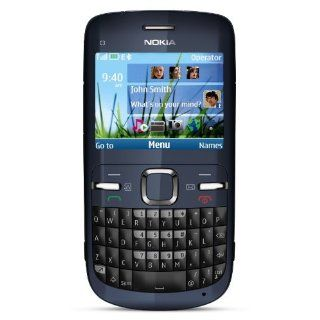 Nokia C3 00 Unlocked Cell Phone (Slate) with QWERTY, Dedicated E mail Key, 2 MP Camera, Media Player, WLAN, and MicroSD Slot Cell Phones & Accessories