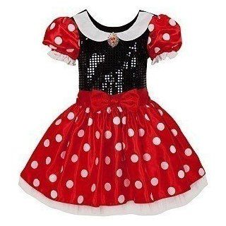 Girls Minnie Mouse Toddler Dress RED Medium M (7 / 8) Toys & Games