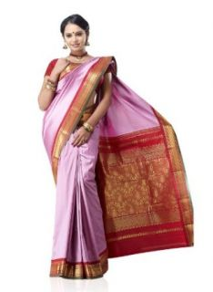IndusDiva Women's Light Purple Art silk Saree Clothing