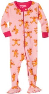 Sesame Street Elmo Girl Footed Coverall, Pink, 3 6 Months Infant And Toddler Bodysuit Footies Clothing