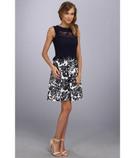 Jessica Simpson Sleeveless Fit And Flare Dress W Lace And Ruffle Detail