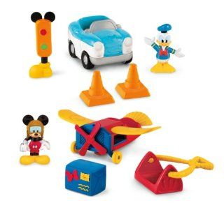 Fisher Price Mickey Mouse Clubhouse Vehicle   Mickey's Plane & Donald's Car Toys & Games