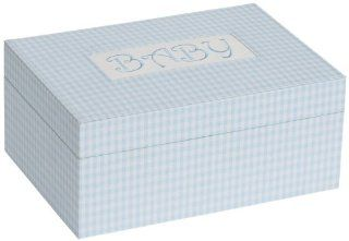 "Darby Baby Memories Keepsake Box in Blue (Blue) (4""H x 9""W x 6.5""D)   Jewelry Boxes"