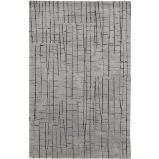 2' x 3' Abstract Oasis of Gray Wool Area Throw Rug