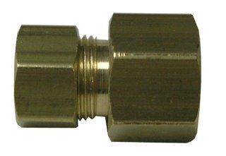 Watts LFA55 Compression to Female Flare Adapter, 1/4 Inch OD x 1/4 Inch Fem Flare   Pipe Fittings