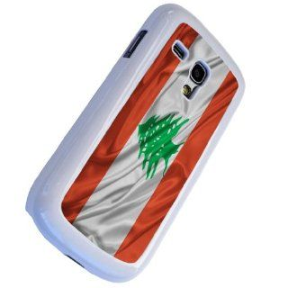 White Frame Lebanese Flag Design Samsung Galaxy S3 mini i8190 Case/Back cover Metal and Hard Plastic case Cell Phones & Accessories