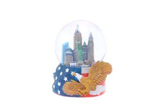 Shop New York City Skyline Snow Globe with Hand Painted USA Flag, and Bald Eagle Engraved Base Sculpture at the  Home D�cor Store