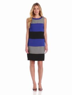 Julian Taylor Women's Sleeveless Colorblock Dress, Blue/Black, 12 Missy