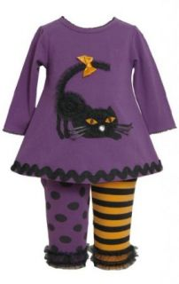 Bonnie Jean Baby girls Dimensional Cat Applique Dress Legging Set Infant And Toddler Pants Clothing Sets Clothing