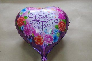 PT0035 1 Love Heart Helium Balloon, Foil Anniversary Wedding Balloon, Love Gift Toys & Games