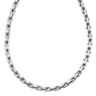 Triton Mens Stainless Steel U Link Necklace   24   Zales