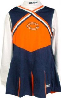 Chicago Bears Girls Youth Cheerleader Outfit w/ Turtleneck   Medium (10/12) Clothing