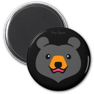 Cute Cartoon Black Bear Magnet
