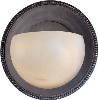 Hudson Valley Lighting 481 OB 1 Light Dalton ADA Wall Sconce, Old Bronze Finish with Natural Alabaster Shade