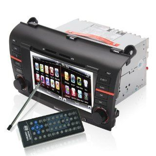 Koolertron For 2004 2009 Mazda 3 Indash Navigation system with DVD player LCD monitor and radio + 7 inch Digital Touchscreen + iPod Ready + Steering Wheel control + Bluetooth (Factory Fit)  Vehicle Dvd Players
