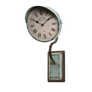 "22"" Decorative Blue Blush Distressed Vintage Roman Numeral Wall Clock"