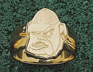 "Georgia Bulldogs ""Bulldog Face"" Men's Ring Size 10 1/2   14KT Gold Jewelry Clothing"
