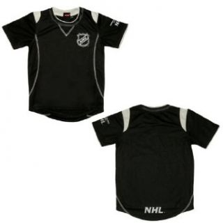 NHL National Hockey League Boys Short Sleeve Hockey Jersey Shirt Large Black  Athletic Shirts  Clothing