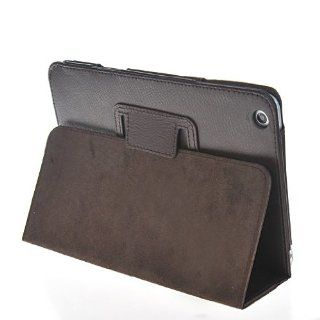 MOONCASE Leather Stand Smart Litchi Skin Design Style Case Cover for Apple iPad Mini Brown Cell Phones & Accessories