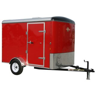 Carry On Trailer 6 ft x 10 ft Red Enclosed Trailer