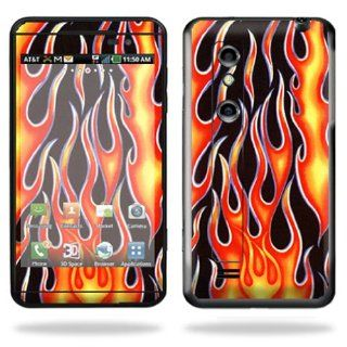 Protective Vinyl Skin Decal Cover for LG Thrill 4G Cell Phone Sticker Skins Hot Flames Cell Phones & Accessories