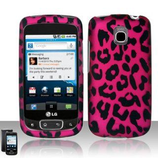 LG Optimus T P509 / LG Phoenix P505 / LG Thrive P506 Case (T Mobile / AT&T) Rich Leopard Design Hard Cover Protector with Free Car Charger + Gift Box By Tech Accessories Cell Phones & Accessories