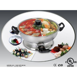 Shabu Shabu Hot Pot, Electric Mongolian Hot Pot W/DIVIDER Kitchen & Dining