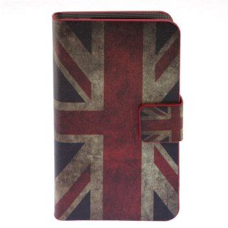 Huoshang Retro Union Jack Flag Patterns Leather Wallet Style Stand Case Cover with Card Slots for Samsung Galaxy Mini I9190 Black Cell Phones & Accessories