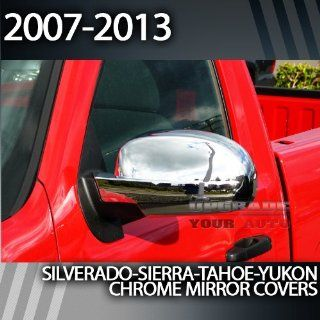 2007 2013 Chevy Silverado Full chrome Mirror Covers Automotive