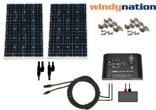 WindyNation 200 Watt Solar Panel Complete Off Grid Kit