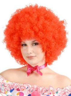 Charades Giant Puffy Afro Circus Clown Party Costume Red Wig Clothing