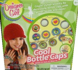 Creative Kids Designer Girl Cool Bottle Caps Jewelry making kit Toys & Games