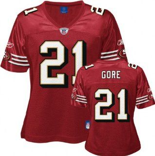 Frank Gore Red Reebok Replica San Francisco 49ers Women's Jersey   X Large  Athletic Jerseys  Sports & Outdoors