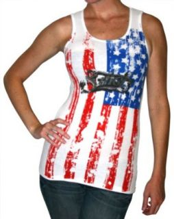SMET Christian Audigier Ed Hardy American Flag Womens Tank Top Size L/XL