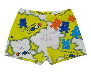 Cute Bear Swim Trunk for Boy Yellow Bathing Suit Boys Shorts, 3 5 Years Old, L  Sports & Outdoors