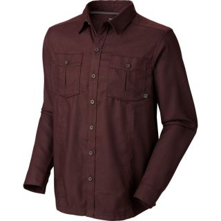Mountain Hardwear Solid Flannel Twill Shirt   Long Sleeve   Mens