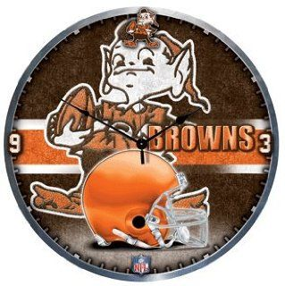 NFL Cleveland Browns Clock   High Definition Art Deco XL Style Home And Garden Products Kitchen & Dining