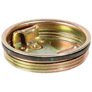 "New Pig DRM541 Plated Steel Drum Bung, 2"" Diameter, Silver (Box of 10) Drum And Pail Lids"