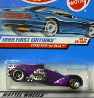 Mattel Hot Wheels 1999 First Editions 164 Scale Purple Screamin Hauler 15/26 Die Cast Car Toys & Games