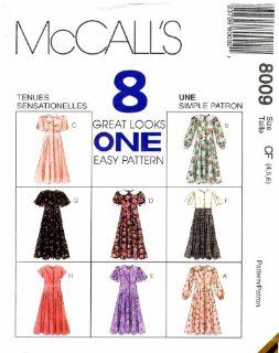 McCall's 8009 Sewing Pattern Girls Empire Waist Dress Size 4   5   6