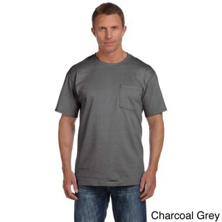 Fruit Of The Loom Fruit Of The Loom Mens Heavyweight Cotton Chest Pocket T shirt Grey Size XXL