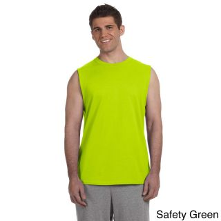 Gildan Gildan Mens Ultra Cotton Sleeveless T shirt Green Size L