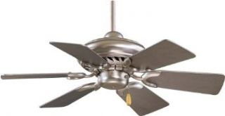"Minka Aire F562 BS 32"" 6 Blades in Brushed Steel Finish w/Silver Blades Supra   Ceiling Fans"