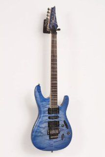 Ibanez S570DXQM Electric Guitar (Bright Blue Burst) Musical Instruments