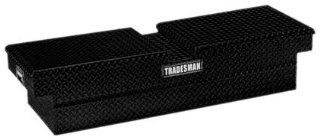 Lund/Tradesman 79150T 70 Inch Aluminum Gull Wig Cross Bed Truck Tool Box, Diamond Plated, Black Automotive