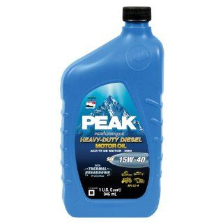 Peak P4MJ576 SAE 15W 40 CJ 4 Heavy Duty Motor Oil   1 Quart Bottle, (Case of 6) Automotive