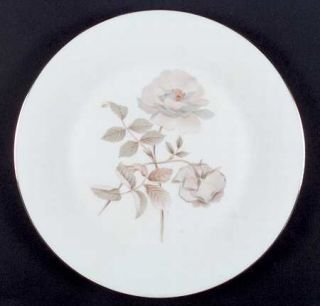 Royal Doulton Yorkshire Rose Dinner Plate, Fine China Dinnerware   White/Gray Ro