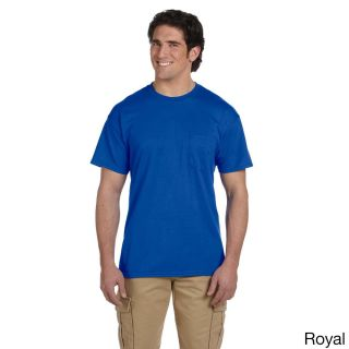 Gildan Mens Dry Blend Pocket T shirt Blue Size XXL